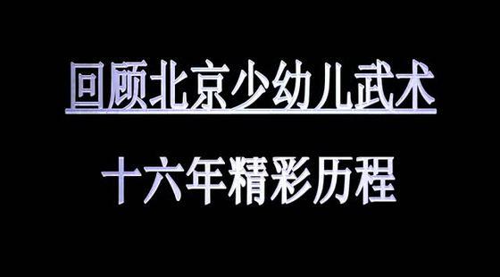 北京少幼儿武术16年成果展示精彩历程