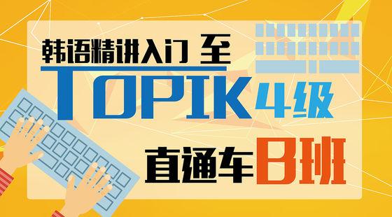韩语精讲入门至TOPIK4级直通车B班