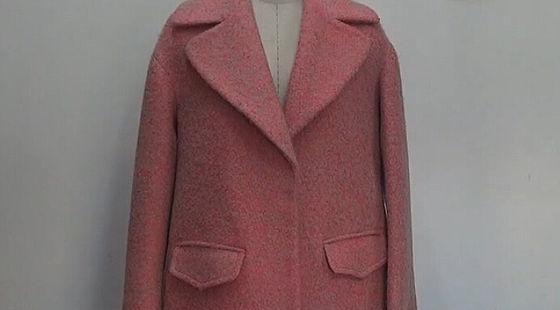实践羊绒大衣制版 前后片制版