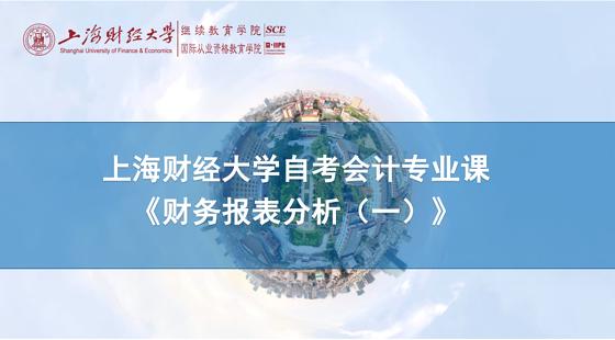上海財經大學自考會計專業課《財務報表分析(一)》