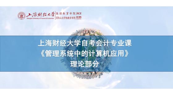 上海財經大學自考會計專業課《管理系統中的計算機應用》理論課